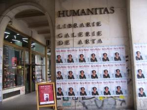Herta Müller-Plakate in Bukarest