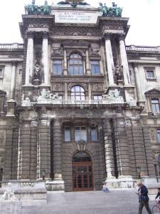Blick auf die Hofburg in Wien