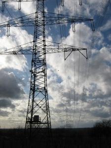 Stromleiteitung in Südbaden