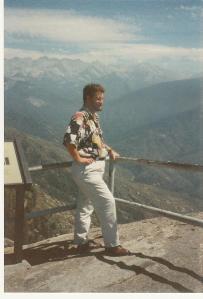 Erinnerung aus besseren Tagen - Carl Gibson in Kalifornien, 1989, Sequoia National Park