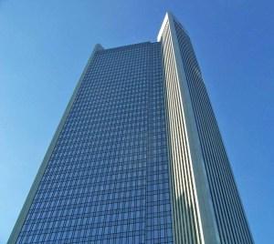 Glaspalast einer deutschen Bank in Frankfurt