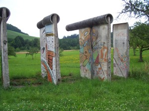 "Parts of the Berlin Wall in South Germany - now an ""anticommunist monument"