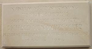 Geburtsort des späteren Bundespräsidenten Richard von Weizsäcker - Neues Schloss