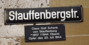 Erinnerung an den Hitler-Attentäter und Widerstandskämpfer Graf von Stauffenberg