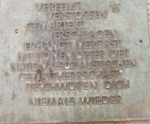 Inschrift Widerstandsdenkmal von Ernst Bloch