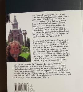 Carl Gibson neues Buch Allein in der Revolte Buckrückseite
