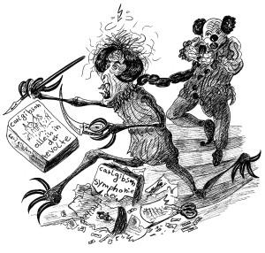 Michael Blümel: Illustration zu Carl Gibson, Die Zeit der Chamäleons, 3