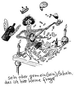 Michael Blümel: Illustration zu Carl Gibson, Die Zeit der Chamäleons, 4