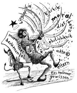 Michael Blümel: Illustration zu Carl Gibson, Die Zeit der Chamäleons, 5