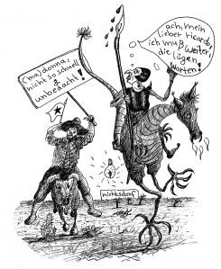 Michael Blümel: Illustration zu Carl Gibson, Die Zeit der Chamäleons, 1
