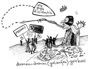 Michael Blümel: Illustration zu Carl Gibson, Die Zeit der Chamäleons, 6