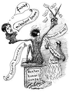 Michael Blümel: Illustration zu Carl Gibson, Die Zeit der Chamäleons, 8