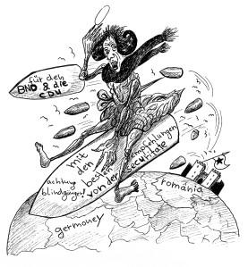 Michael Blümel: Illustration zu Carl Gibson, Die Zeit der Chamäleons, 10