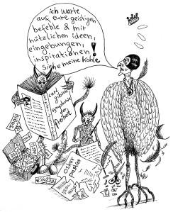 Michael Blümel: Illustration zu Carl Gibson, Die Zeit der Chamäleons, 12
