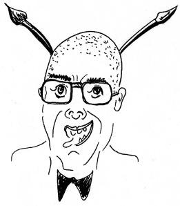 Michael Blümel, Selbst-Karikatur