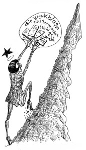 Michael Blümel: Illustration zu Carl Gibson, Die Zeit der Chamäleons, 13