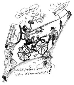 Michael Blümel: Illustration zu Carl Gibson, Die Zeit der Chamäleons, 14