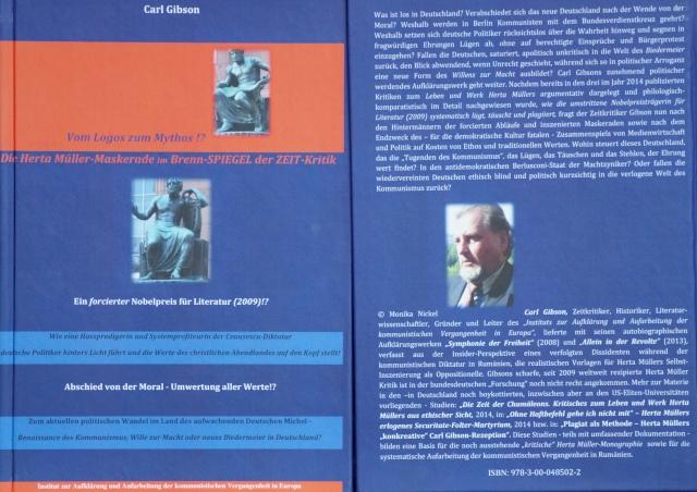 Carl Gibson: Vom Logos zum Mythos!?  Die Herta Müller-Maskerade im Brenn-SPIEGEL der ZEIT-Kritik