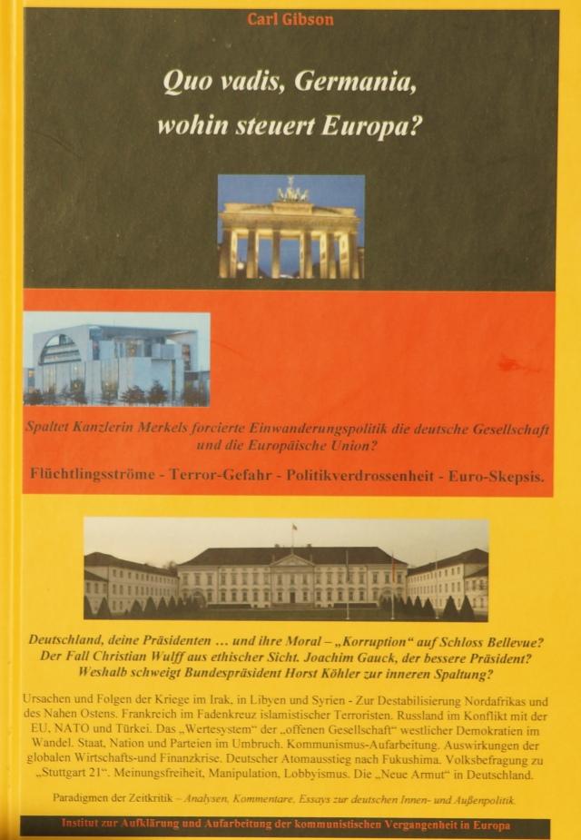 Carl Gibson, Quo vadis, Germania, wohin steuert Europa? Titelbild