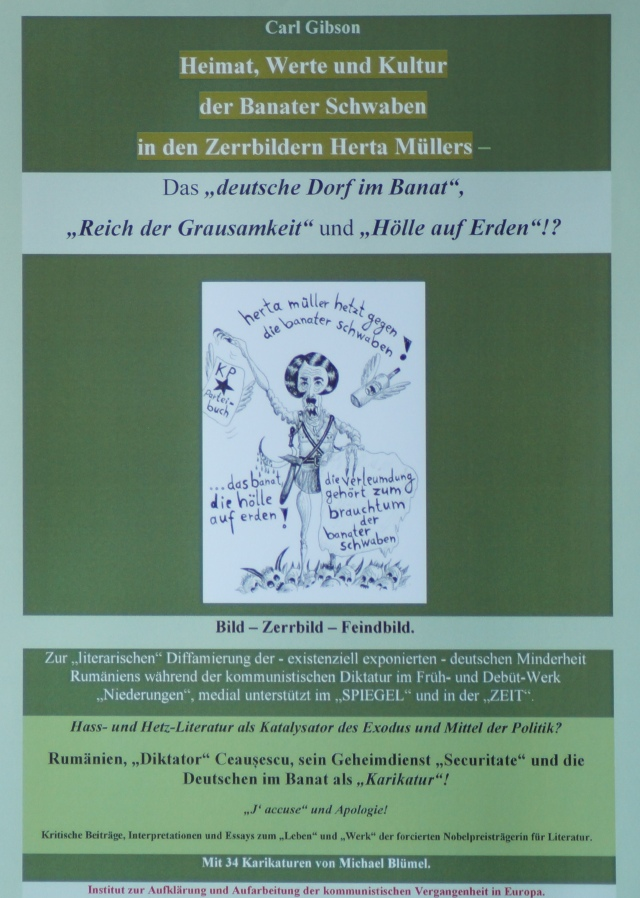 """Carl Gibson Heimat, Werte und Kultur der Banater Schwaben in den Zerrbildern Herta Müllers - Das """"deutsche Dorf im Banat"""", """"Reich der Grausamkeit"""" und """"Hölle auf Erden""""!?"""